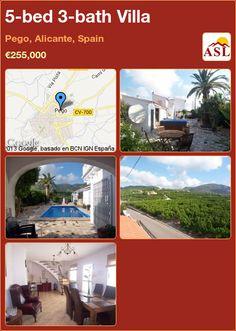5-bed 3-bath Villa in Pego, Alicante, Spain ►€255,000 #PropertyForSaleInSpain
