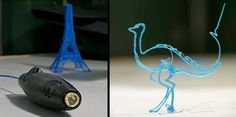 3D printing pen: Innovative pen designed by Peter Dilworth and Max Bogue allows people to draw three-dimensional objects.