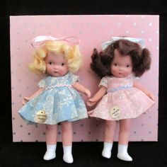 "Nancy Ann Storybook Dolls ""Twin Sisters"" #84 - MS w/ Stickers & Orig. Box"