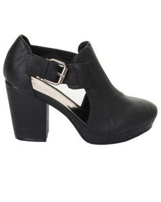 ILWF BLACK CUT OUT BUCKLE BOOT £32.00