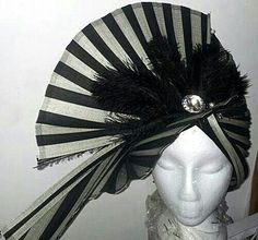 A couture hat I made from Jinsin material.  Material purchased from Austrailia.