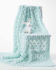 Crochet Baby Blanket by Bernat Design Studio