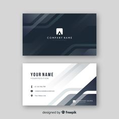 Abstract grey visiting card with logo Free Vector Minimal Business Card, Modern Business Cards, Professional Business Cards, Business Card Logo, Business Card Design, Creative Business, Free Business Card Templates, Brochure Template, Logo Templates