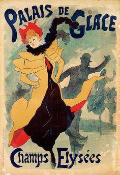 Bild:  Jules Chéret - Jugendstilplakat Palais de Glace