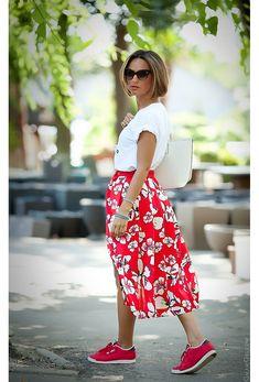 red skirt by GalantGirl.com
