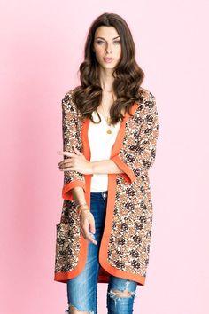 SIKA JACKET   Creme   Kimono fra LOLLYS LAUNDRY