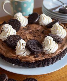No-Bake OREO Cookies 'n' Cream Chocolate Tart