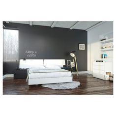 Melrose 5 Piece Queen Size Bedroom Set - Nexera, White