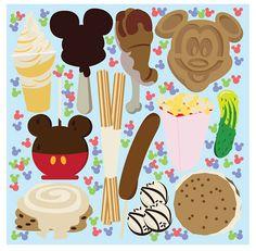 Disney Snacks Illustration