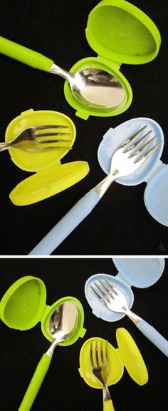 23Aug2014 Awesome Products : Cutlery covers perfect for your purse categories: Awesome Products, Design, Products for your Life