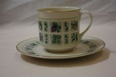 Royal Doulton England Tapestry Coffee Cup Saucer Set TC 1024 Fine China Mint #RoyalDoulton