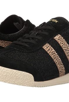 Gola Harrier Safari (Black/Gold) Women's Shoes - Gola, Harrier Safari, CLA306, Footwear Athletic General, Athletic, Athletic, Footwear, Shoes, Gift, - Fashion Ideas To Inspire
