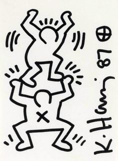 SB-O - chandeliercreative: friends forever Keith Haring Prints, Keith Haring Art, Keith Allen, Street Art, Modern Drawing, Art Archive, Graffiti Art, American Artists, Wall Collage