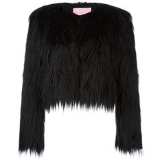 FUR EFFECT CROPPED JACKET ❤ liked on Polyvore featuring outerwear, jackets, fur jacket, cropped jacket and cropped fur jacket