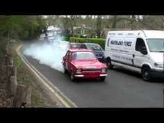 Mk1 Escort Rolling Burnout at Boxhill