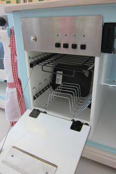 Inside the dishwasher.
