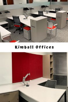 Loving this install of Kimball office cubicles & Kimball desks! Find the closest Kimball dealer to you. Office Furniture Stores, Furniture Online, Kimball Office, Trim Paint Color, Office Cubicles, Painting Trim, Grey Trim, Glass Panels