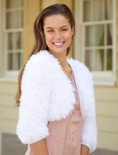 Pretty Princess Shrug Tutorial....the most beautiful knit shrug you will ever make! #weddingideas #freeknittingpatterns