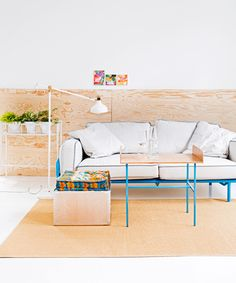 Plywood is great material! Outdoor Sofa, Outdoor Furniture Sets, Outdoor Decor, Sun Lounger, Sweet Home, Beige, Living Room, Brown, Interior