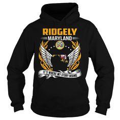 (Tshirt Top Tshirt Sale) Ridgely Maryland Its Where My Story Begins Shirt design 2016 Hoodies, Funny Tee Shirts