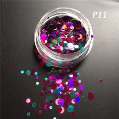 1g Hot Fashion Mixed Mini Round Thin Nail Art Glitter Paillette Nail Tip Bottle Gel Polish Decoration Manicure Tools LAP09-16