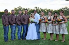 blue jean wedding
