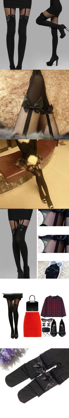 Girls Bow Suspenders Pantyhose Thigh High Stockings For Women Boot Socks Cotton Over Knee Sock  #JS0730 $3.66