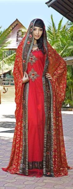 Woman wearing dress Arabian style
