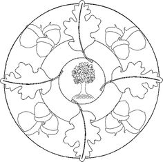 Nut Mandala Coloring Pages