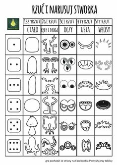 Roll a dice game – Kunstunterricht Art Games For Kids, Drawing Games For Kids, Middle School Art, Art School, Art Science Fiction, Monster Drawing, Art Worksheets, Dice Games, Art Classroom