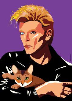 David Bowie by @MarceloDMnzs
