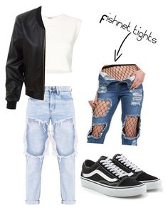 """""""Street fashion"""" by rand0mgirl1230 on Polyvore featuring Puma, LE3NO, Vans and Pilot"""