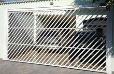 Portão Tubular EP-001 com preenchimento de metalon de aço carbono 100% galvanizado em diversos perfis.