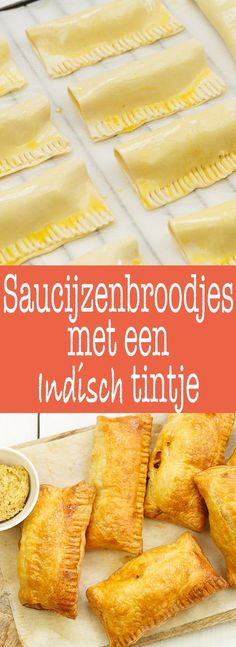 Saucijzenbroodjes Yummy Snacks, Snack Recipes, Yummy Food, Potluck Recipes, Tapas, Savoury Baking, Dutch Recipes, Party Food And Drinks, English Food