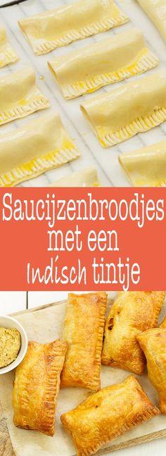 Saucijzenbroodjes I Love Food, Good Food, Yummy Food, Tapas, Savoury Baking, Dutch Recipes, English Food, Four, I Foods