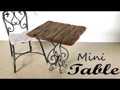 Miniature Furniture; Small Table Tutorial - YouTube