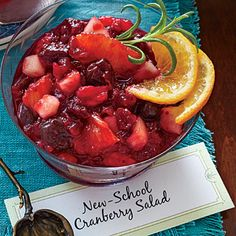 New-School Cranberry Salad - 102 Best Thanksgiving Side Dish Recipes - Southern Living