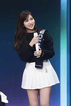 Kpop Girl Groups, Korean Girl Groups, Kpop Girls, Akira, Myoui Mina, Stage Outfits, Beautiful Asian Girls, South Korean Girls, Cheer Skirts