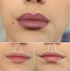 How to highlight contour your lips. IF you have time for this it looks like it can make a difference. But let's face it, we could only do all of these little tricks and tips if we had the entire Kardashian Makeup Team working on us. Eyebrow Makeup Tips Contour Makeup, Contouring And Highlighting, Skin Makeup, Contour Nose, Lip Contouring, Strobing, How To Contour Your Face, Beauty Make-up, Beauty Secrets