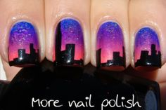 Sunset in the city - More Nail Polish