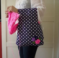 Wristlet Project Bag for Knitting Crochet Projects Wristlet
