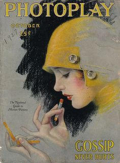 again, my eye in this case went right to the vintage piece. i love the angle here, with just showing the side profile of the woman's face with the vintage hat. the way she is applying the lipstick very dilicate,deliberate and actually sets a tone for the cover. i also think the unusual but effective colors of this cover make it pop and so eye catching and irrisistable