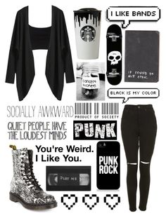 """""""Untitled #85"""" by arachnofobia ❤ liked on Polyvore featuring beauty, The Ragged Priest, Dr. Martens, River Island, Retrò, Samsung and Band of Outsiders"""