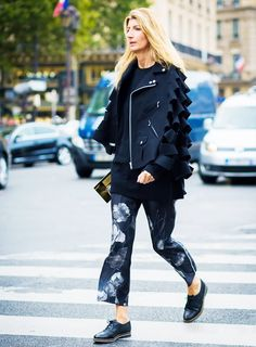 The Street Style Guide to Dressing Up Your Flats via @WhoWhatWear
