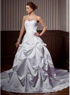 Wedding Dresses - $250.99 - A-Line/Princess Sweetheart Chapel Train Satin Wedding Dress With Embroidery Ruffle Beadwork  http://www.dressfirst.com/A-Line-Princess-Sweetheart-Chapel-Train-Satin-Wedding-Dress-With-Embroidery-Ruffle-Beadwork-002000453-g453