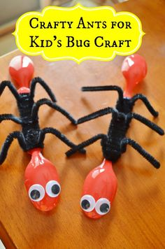 simple ant bug insect craft for kids - perfect for science lessons and spring / summer crafts