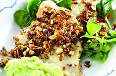 Nøtte- og frøpanert fisk