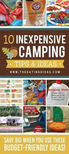 Camping Ideas, Hacks, & Tips! - from Ideas for camping on a budget - save tons with these hacks and tips!Ideas for camping on a budget - save tons with these hacks and tips! Camping Ideas For Couples, Camping Hacks With Kids, Camping Bedarf, Family Camping, Outdoor Camping, Camping Tricks, Camping Stuff, Camping Trailers, Camping Cabins