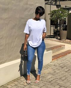 Related posts:Casual outfit for FallShort hair ideas for moreSweet baby blue long dress Simple Outfits, Classy Outfits, Stylish Outfits, Black Girl Fashion, Look Fashion, Classy Fashion, White Fashion, Cheap Fashion, Fashion Details