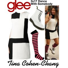 Tina Cohen-Chang (Glee) : 3x17 by aure26 on Polyvore featuring polyvore, fashion, style, Rayure, clothing and glee
